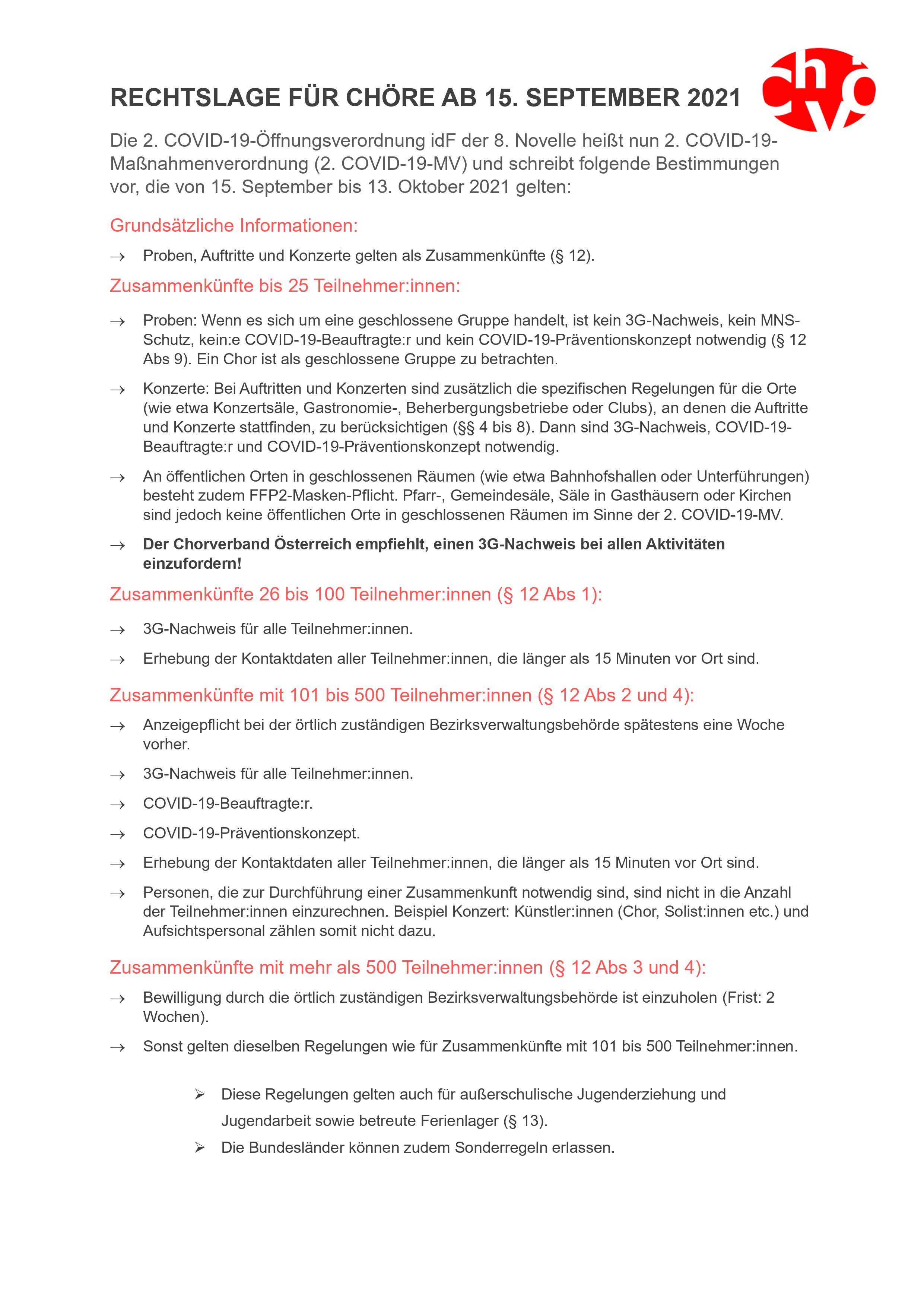 Rechtslage Choere 15092021